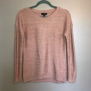 a.n.a. Pink Sparkly Sweater